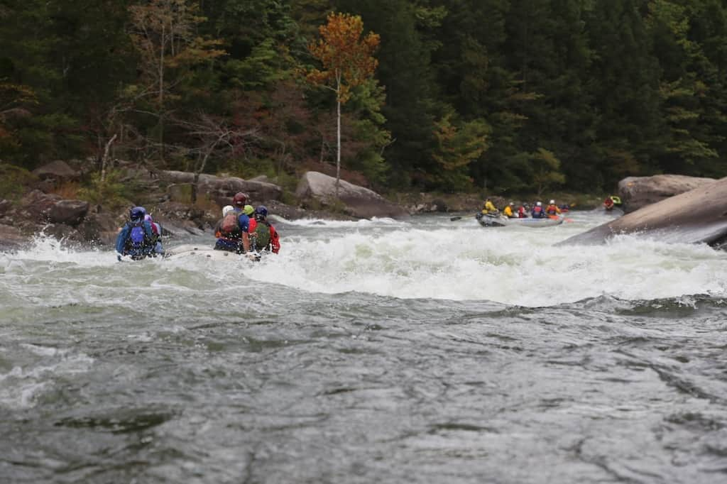 Insignificant is the first big rapid on the Upper Gauley