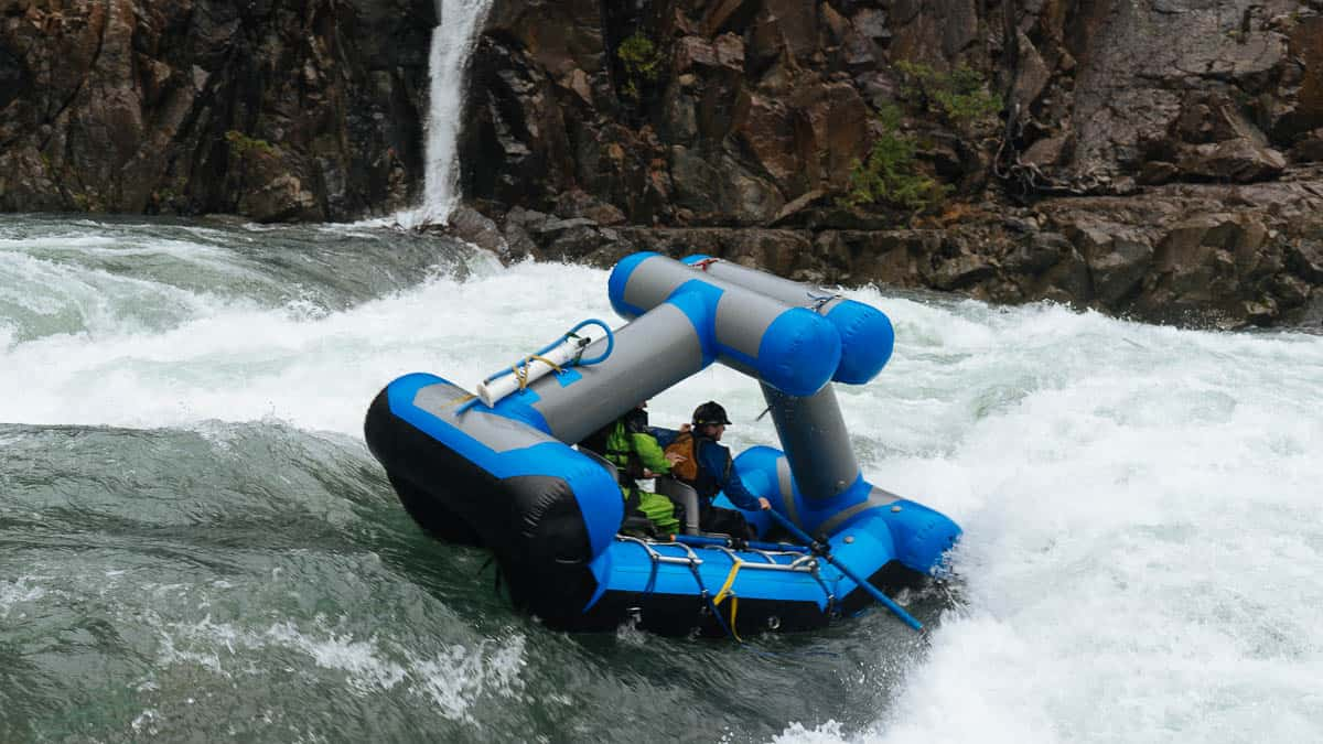 Scout Rapid on the North Fork of the Smith River at 14 feet