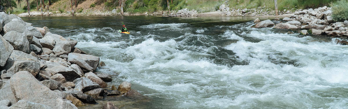 One of the many fun rapids on the Staircase Run on the South Fork of the Payette River